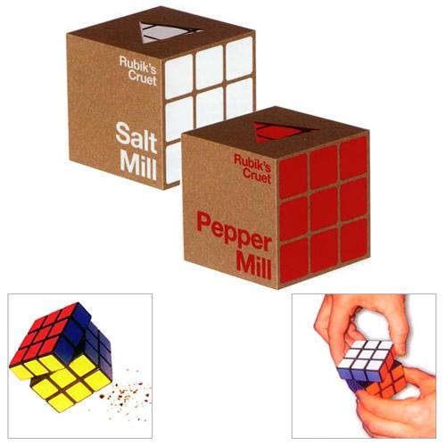 Salero Pimentero del cubo de Rubik