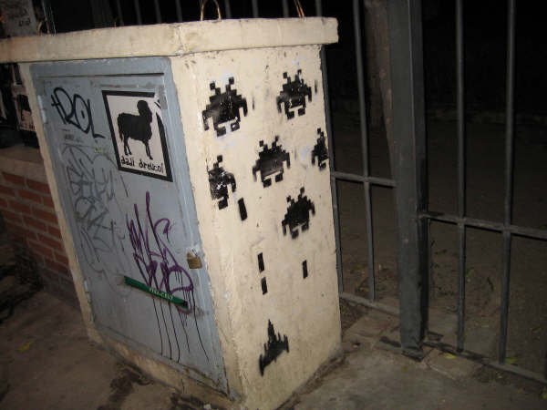 Pintada de Space Invaders