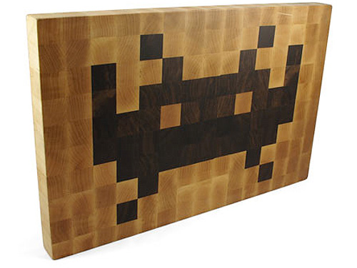 Tabla de cortar de Space Invaders