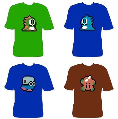Camisetas del Bubble Bobble
