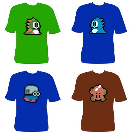 Camisetas del Bubble Bobble