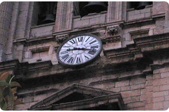 Reloj de la catedral de Jaén
