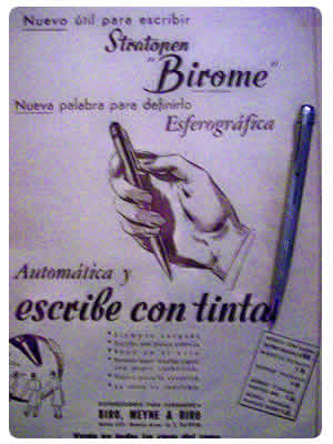 Bolígrafo Birome